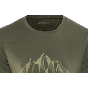 Bergans Explore Wool Bluzka z krótkim rękawem Mężczyźni oliwkowy